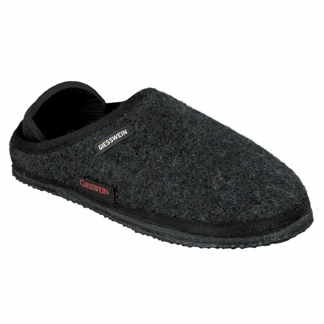 0a6aa387f6f17 Giesswein Neritz Anthracite Womens Wool Closed Back Shoes Slippers Mule