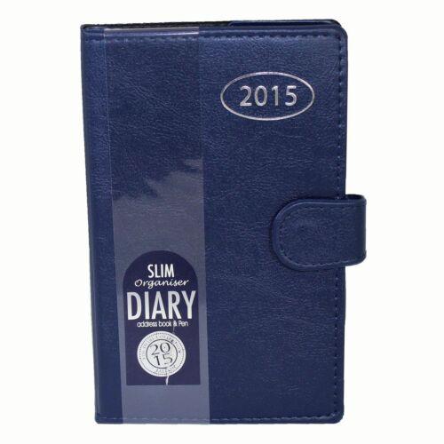 2016 A5 Leatherette Stylish Organiser Diary Address Book /& Pen Week to View