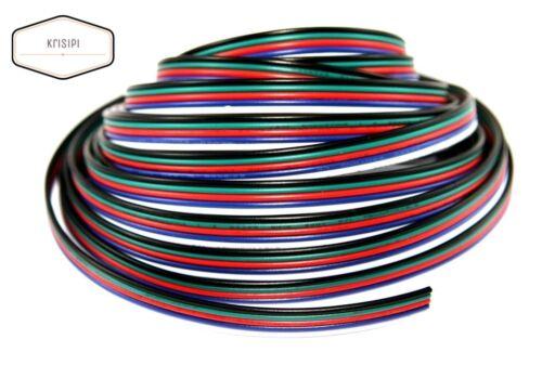 5 adrig LED RGBW Kabel Verlängerungskabel 1//5//10//20//50//100 m Anschlusskabel