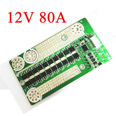 12V 80A Battery Protection BMS Board with Balance for 4S LiFePo4 Batterie CAR