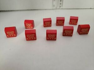 Lot-of-9-Vintage-Monopoly-Red-wood-hotels-Grand-Hotel