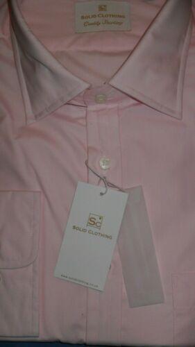 OFFERTA Solid Clothing Taglia 19.5 Jermyn Street/' 100/% COTONE LUX ROSA e sulla camicia di e