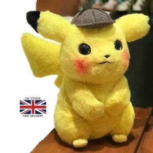 Pikachu-Detective-Movie-Stuffed-Toys-Japan-Anime-Game-Comic-Doll-Soft-Plush-Gift