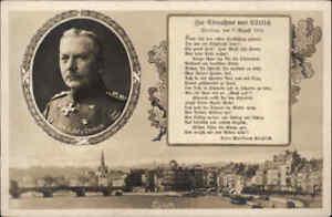 Militaria-Militaer-1-Weltkrieg-Gedenk-AK-Einnahme-Luettich-General-Emmich-Foto