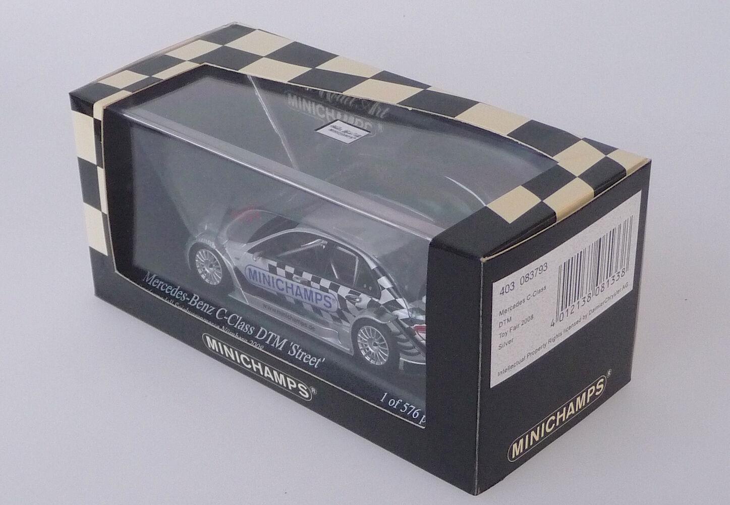Minichamps 403083793 Mercedes C C C DTM Sondermodell Spielwarenmesse Nürnberg 2008    Creative  dda7cc