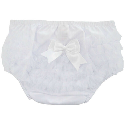 Baby Toddler Frilly Pants Girls Cute Cotton Ruffle Knickers Lace Christening New