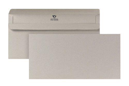 Bong 1220481 Enveloppes DL Recyclé Gris Sans Fenêtre Pack De 1000