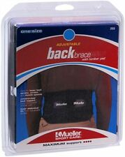 Mueller Sport Care Back Brace With Lumbar Pad One Size [255] 1 Each 2pk