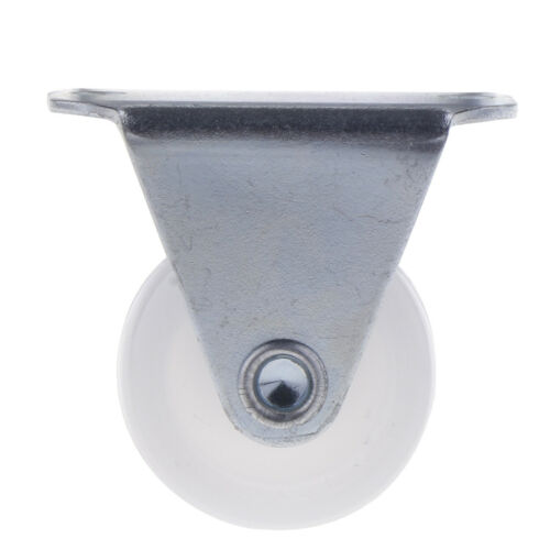 1 Inch White Fixed Plate Caster Wheel 10kg 22lbs for Home /& Commercial Cart