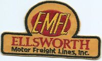 EMFL Ellsworth Motor Freight Lines Inc. driver patch 2-3/8 X 4-1/4 inch #1094