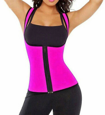 Women Hot Neoprene Body Shaper Waist Slim Belt Yoga Vest Underbust Size S-2XL