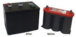 Cloaking Device for  6 volt Optima Battery looks like an original 6V PORSCHE 356
