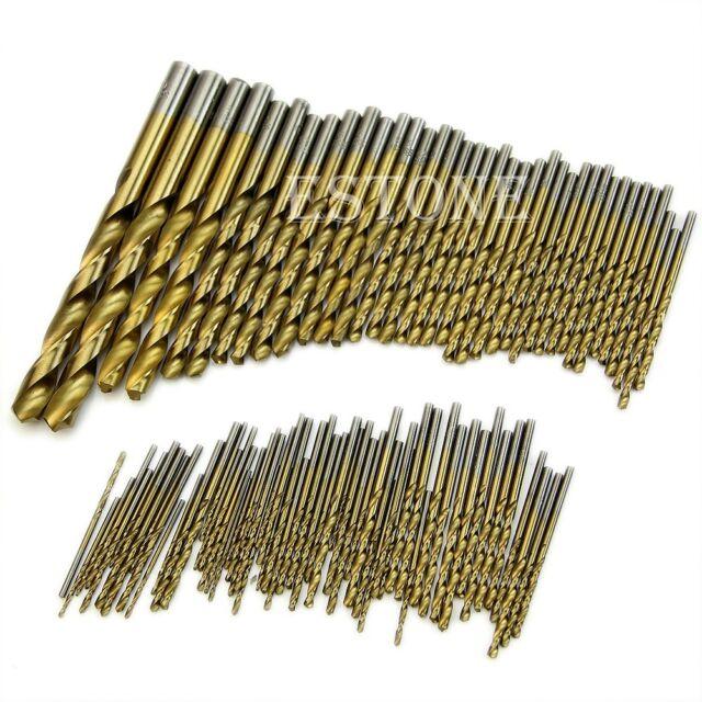 99pcs 1.5mm - 10mm Titanium Coated HSS High Speed Steel Drill Bit Tool Set