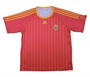 SPAGNA 2006-08 Authentic Home Camicia di base (ottimo) L soccer jersey