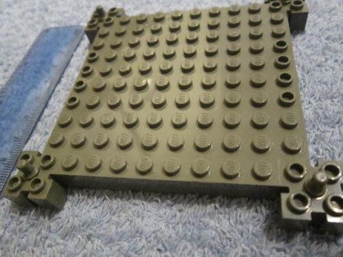 Brick 12 x 12 Baseplate with Corner Posts LEGO Thick Technic Grey Base Plate