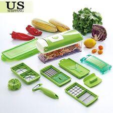 super slicer plus vegetable fruit peeler dicer cutter chopper nicer grater 12pcs - Vegetable Dicer