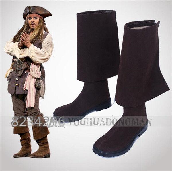 Hot Pirates of the Caribbean 5 Herren V Jack Sparrow Cosplay Herren 5 Stiefel Schuhe 56309c