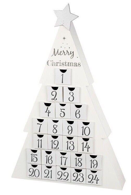 Heaven Sends Nordic Arbre de Noël Blanc Nordic Sends ADVENT CALENDAR 42x8x63cm Grand 7383c2