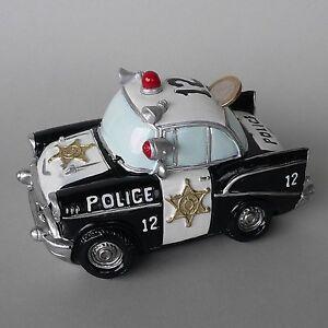 spardose polizeiauto us police car polizei sheriff streifenwagen sparschwein neu ebay. Black Bedroom Furniture Sets. Home Design Ideas