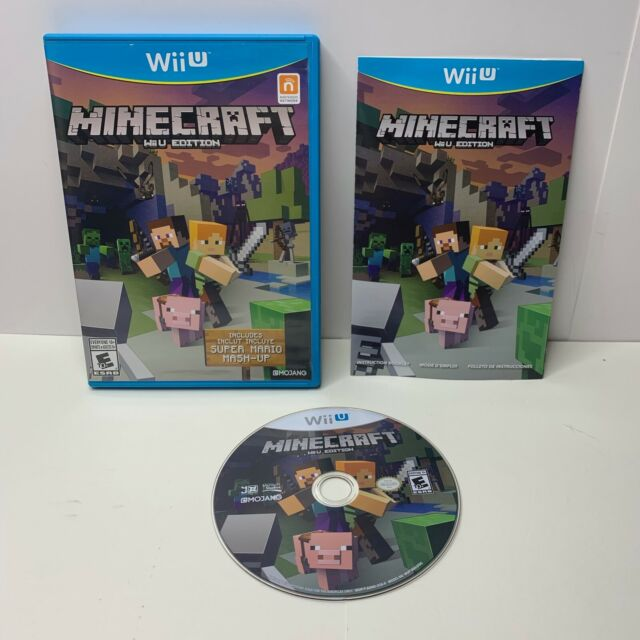 Minecraft: Wii U Edition Nintendo 2016 Complete W/ Manual
