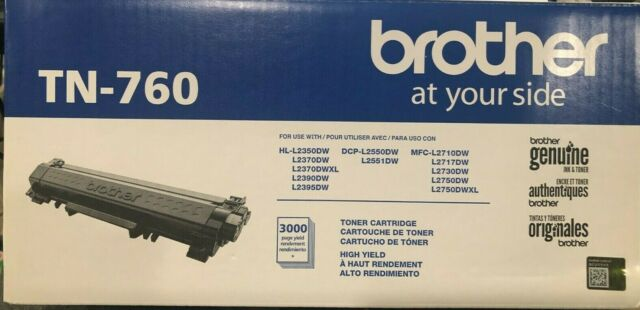 Brother - TN-760 High-Yield Black Toner Cartridge - OPEN BOX -FAST FREE SHIPPING