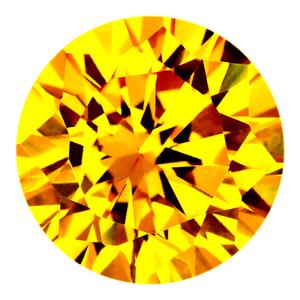 Very Finest Golden Yellow CZ Cubic Zirconia Round Brilliant AAAAA 1mm - 16mm