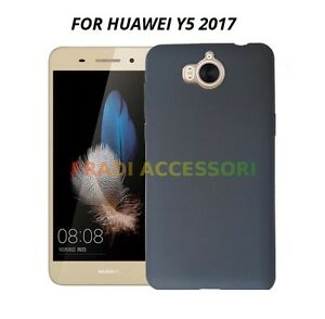 Cover case custodia HUAWEI Y5 2017 TPU ultra slim silicone nera morbida 0,3mm