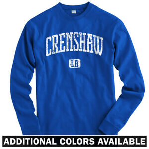 Details about Crenshaw Los Angeles Long Sleeve T-shirt LS - California Blvd  LA - Men / Youth