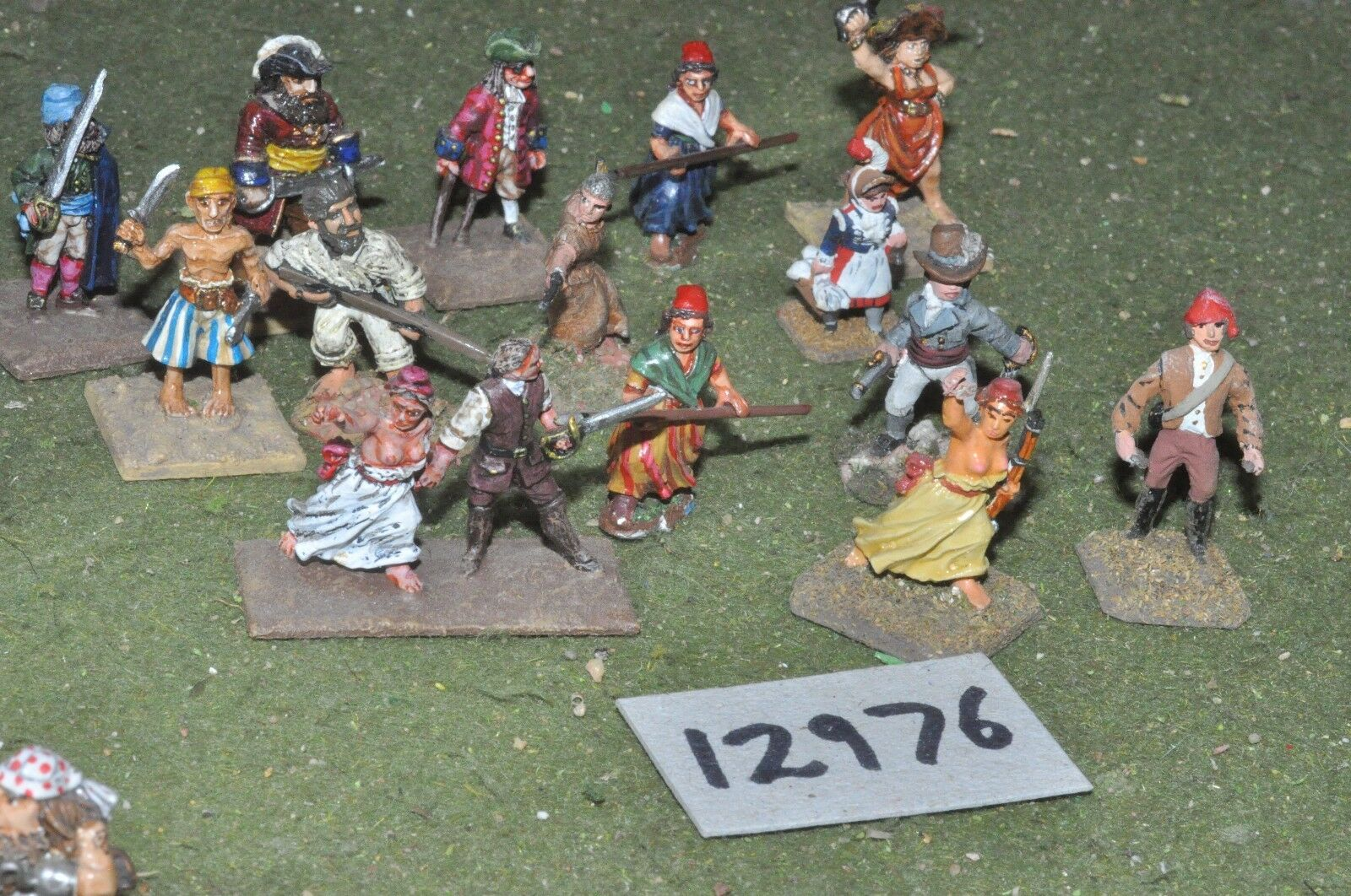 25mm napoleonic   french - revolutionary war rebels 15 figs - inf (12976)