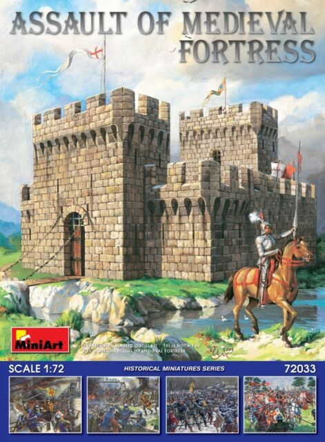 miniart 72033 1 72nd scale assault of medieval fortress building