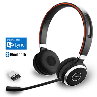 Jabra Evolve 65 Ms Duo Wireless Bluetooth Pc Headset Link 360 New 6599 823 309 Ebay