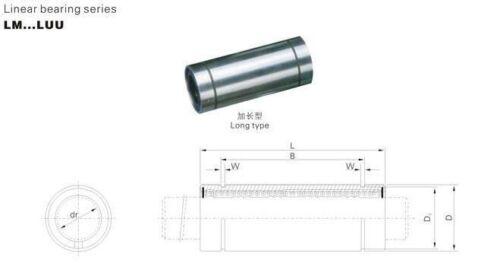 4pcs LM16LUU 16mm linear bushing linear bearing bush bearing CNC part