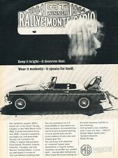 1964 MGB MG Monte Carlo GT Winner Original Advertisement Print Car Ad J541