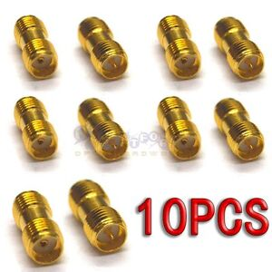 10pcs-SMA-female-jack-to-SMA-male-jack-Straight-RF-Connector-Adapter