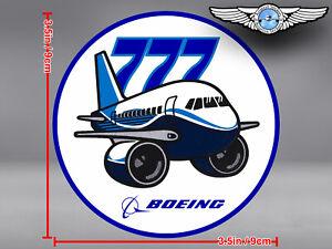 BOEING-B777-B-777-PUDGY-STYLE-ROUND-DECAL-STICKER