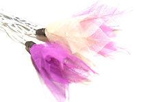 Purple, Pink & Cream Real leaf flower fairy lights, 20 set UK SELLER/SAFETY