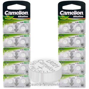 """20x Camelion Knopfzellen Alkaline Ag11 Lr58 Lr721 Lr58"