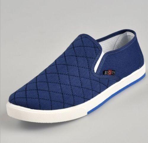 Hommes Enfiler Mocassins Toile Chaussures Respirant Chaussures De Loisirs Driving Shoes