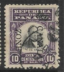 xsa131 Scott CZ26 US Canal Zone Possession Stamp 1906 10c Obaldia Used