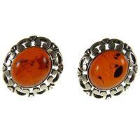 Baltic Amber Sterling Silver 925 Ladies Designer Stud Earrings Jewellery Jewelry