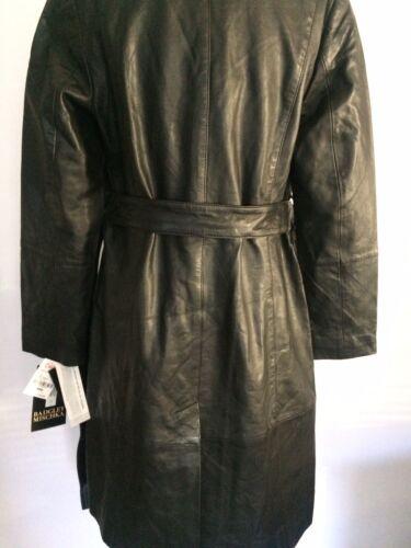 Badgley Mischka Leather Trench Coat