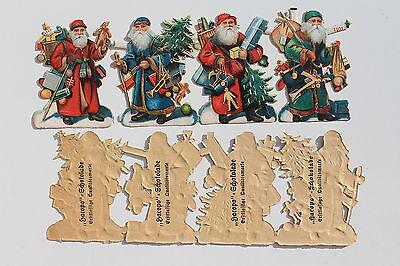 Büro, Papier & Schreiben 18748 4 Oblaten Hacopo Schokolade Sammel Glanz Bilder Weihnachtsmänner Um 1900 Wohltuend FüR Das Sperma Sammeln & Seltenes