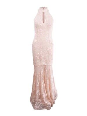 Xscape Women/'s Sequined Lace Mermaid Halter Gown