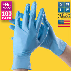100 PACK BLUE NITRILE MEDICAL GLOVES WELLCARE POWDER FREE SMALL & MEDIUM SIZE