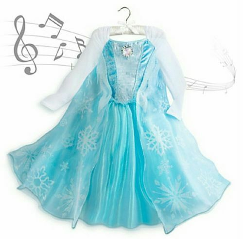 Disney Frozen Princess Elsa Musical Brooch Costume Dress Blue J44 7 ...
