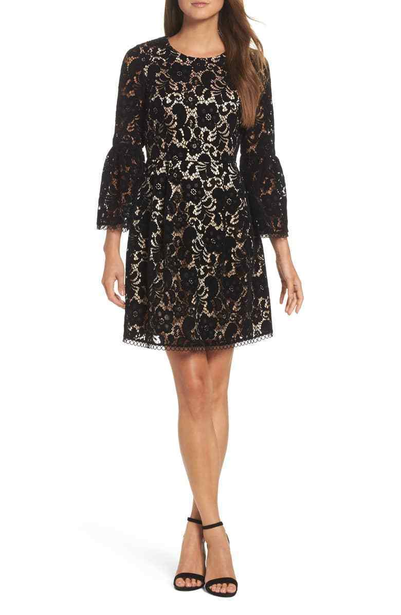 ELIZA ELIZA ELIZA J  Bell Sleeve Fit & Flare Dress (size 12P) 8cd174