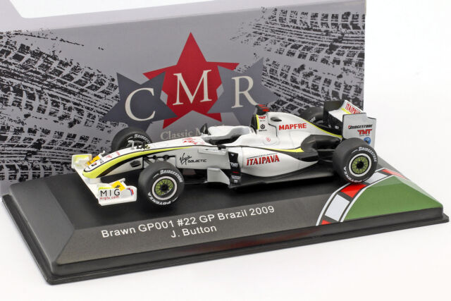 """Jenson Button F1 2009 BRAWN GP Limited Edition Framed Canvas Signed /""""Great Gift/"""""""