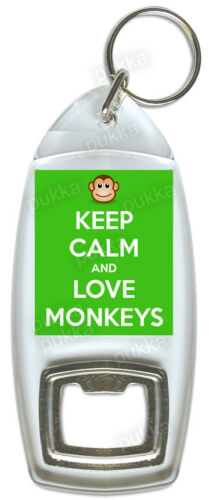 Bottle Opener Keep Calm And Love Monkeys