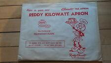 Vintage REDDY KILOWATT Advertising PLASTIC FULL APRON in Original Package