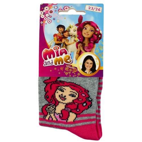 Rose Violet Mia and me-Enfants chaussettes bas-Taille 23//26 27//30 31//34 35//37